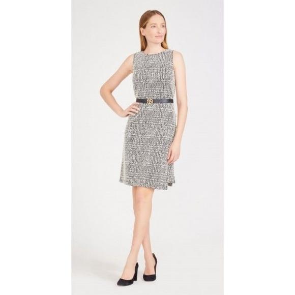 🌹NEW - Alyssa Dress in Houndstooth Plaid Jacquard